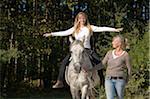 Frauen Pferd Reiten