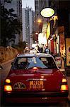 Taxi in wan chi district, hong kong, china