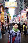 Portrait of woman in hong kong, china