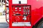 Fire truck close up equipment