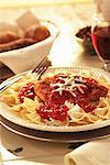 Huhn Margherita mit Bowtie Pasta
