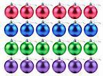 Beaucoup de boules de Noël en lignes