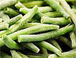 Frozen green beans (close-up)