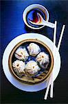 Dim sum à la vapeur de bambou (Chine)