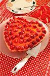 Heart-shaped raspberry flan for Valentine's Day (for diabetics)