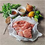 Ingrédients pour porc effiloché