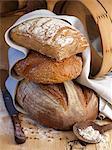 Une pile de pains