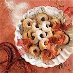 Vanillekipferl festive (biscuits vanille en forme de croissant)