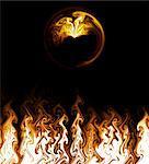 Fire Flames, Digital Generated