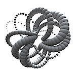 TPOT arrangiert in einem Knoten wie Form, Computer-Grafiken.