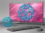 Nanotechnology research, conceptual computer artwork.