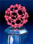 Buckyball Molekül, Computer-Grafiken.
