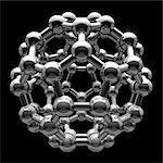 Molécule buckyball, oeuvre de l'ordinateur.