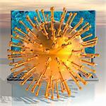 Medizinische Nanopartikel, konzeptionelle Computer Kunstwerk.