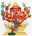 Hindu ganesha God Named Maha Ganapati at temple in thailand