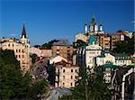 St. Andrew`s Church and Andrew`s descent Kiev, Ukraine