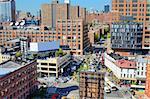 Chelsea neighborhood of Manhattan viewed from abovew