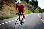 Bike Riding cycliste sur route