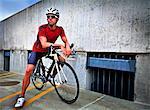 Cycliste sur son vélo