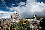 Stein Ruinen in ländlichen Landschaft