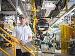 Portrait of worker in car factory