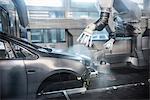 Peinture robots en usine automobile
