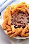 Plateau de Churros au chocolat Sauce trempette