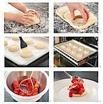 Étapes pour faire le gâteau sablé aux fraises