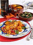 Spanisches Hähnchen mit Paprika und Mais