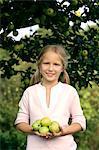girl under apple tree