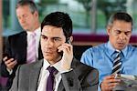 Businessman on telephone call