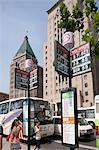 Bus stop at the Bund, Shanghai, China
