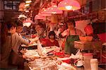 Fish market at the Red Market, Macau