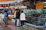Magasins de fruits de mer à Sai Kung, Hong Kong