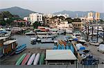 Stadtansicht von Sai Kung alten Dorf und der Küste, Sai Kung, Hong Kong