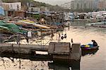 Old boat pier at the old village, Sai Kung, Hong Kong