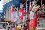 Encens des offrandes au temple de Pak Tai célèbrent le Festival Bun, Cheung Chau, Hong Kong