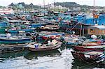 Fishing boats mooring at Cheung Chau, Hong Kong
