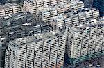 Bird's eye sweep of Jordan residential builidngs from Sky100, 393 metres above sea level, Hong Kong