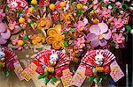 Artificial wishing flower displaying at the flower market, Tsuen Wan, Hong Kong