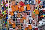 Stall of lucky pockets displaying at the flower market, Tsuen Wan, Hong Kong