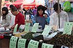 People shopping at the herbs stall, flower market, Tsuen Wan, Hong Kong