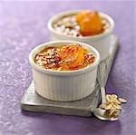 Carrot,clementine,ginger and porridge Crème brûlée
