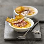 Foie gras et pommes Crème brûlée
