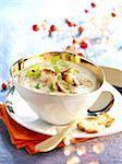 Mushroom and foie gras cappuccino