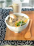 Shitakes and Niziki seaweed soup