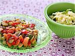 Südliches Gemüse Tian, Pasta mit Zucchini und Basilikum