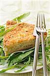Cod,leek and coriander savoury tart