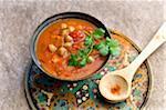 Soupe aux tomates de style oriental