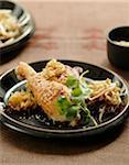 Roast chicken with sesame seeds